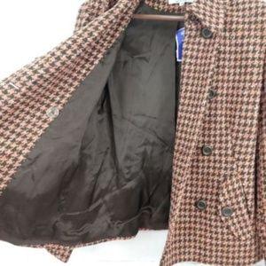 Jonathan Michael Jackets & Coats - Jonathan Michael Wool Blend Houndstooth Pea Coat